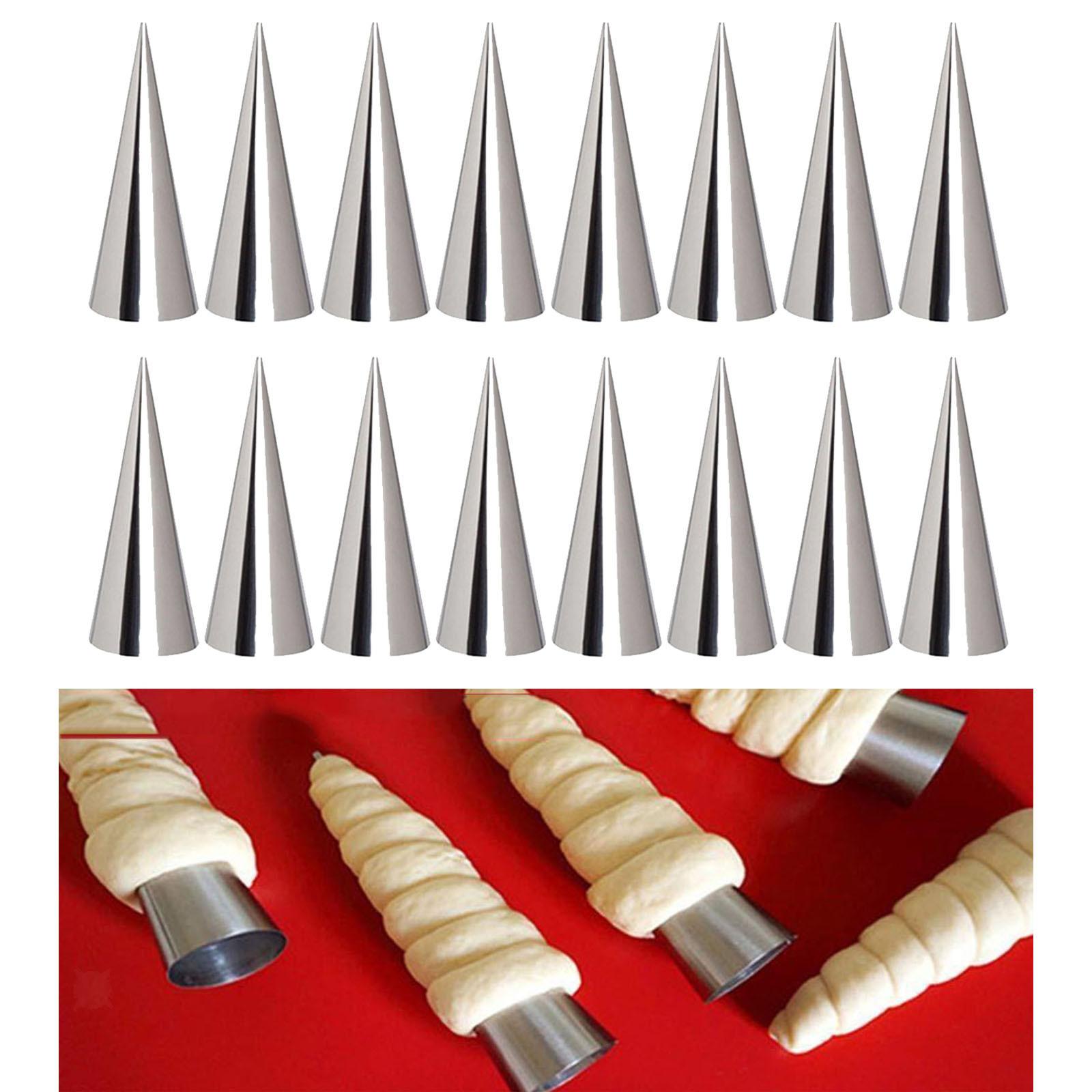 miniature 5 - Crème pâtissière Trompette Croissant Outil Spirale Tubes Pain Pâtisserie Gâ