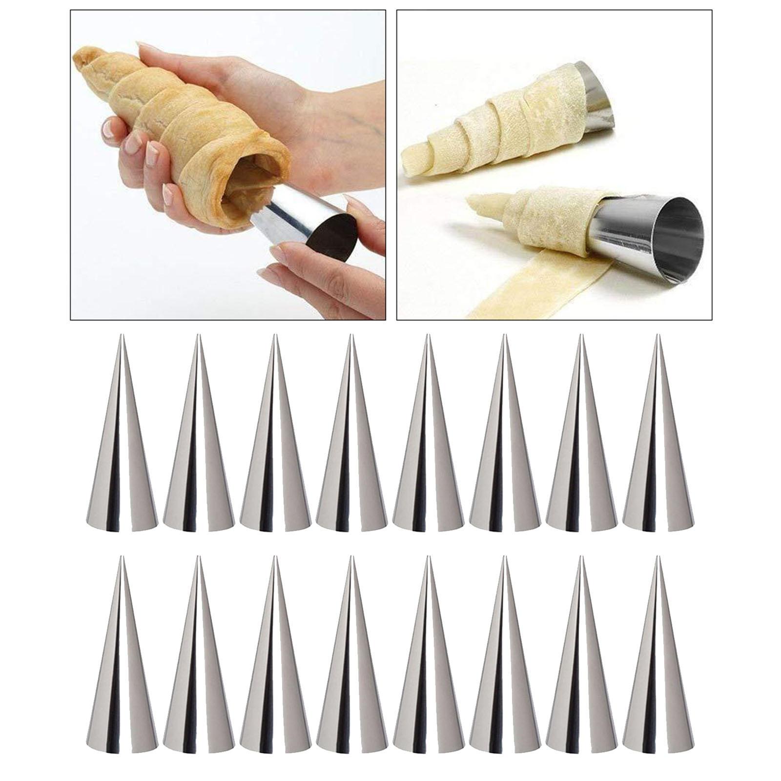 miniature 7 - Crème pâtissière Trompette Croissant Outil Spirale Tubes Pain Pâtisserie Gâ