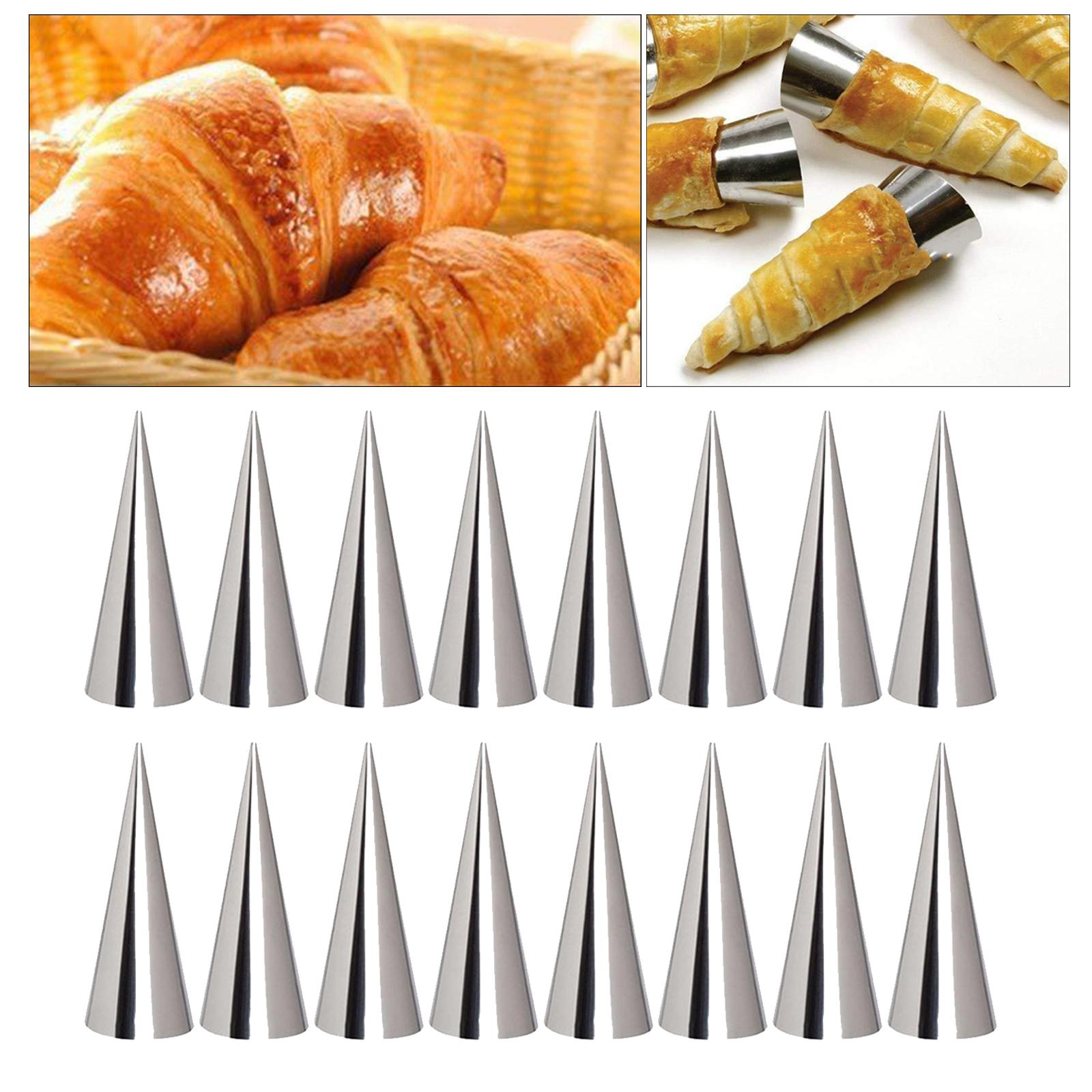 miniature 8 - Crème pâtissière Trompette Croissant Outil Spirale Tubes Pain Pâtisserie Gâ