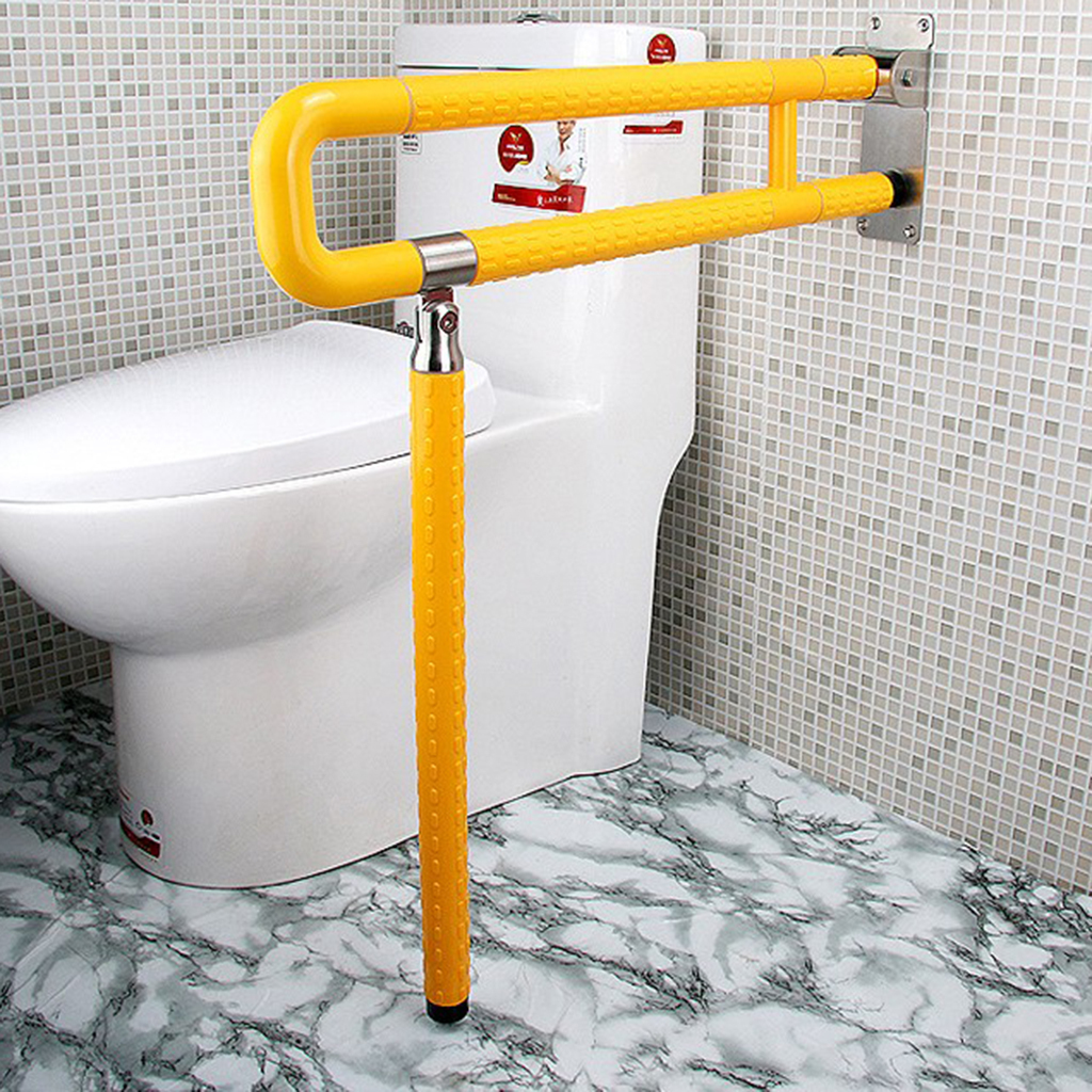 Bathroom Toilet Safety Hand Rails Folding Grab Bar Assist ...