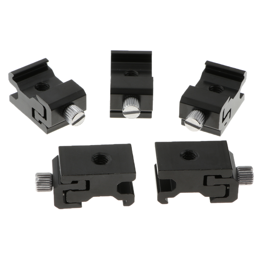 thumbnail 6 - 5 packs of aluminum hot shoe tripod adapters with 1/4 inch 20 tripod screw