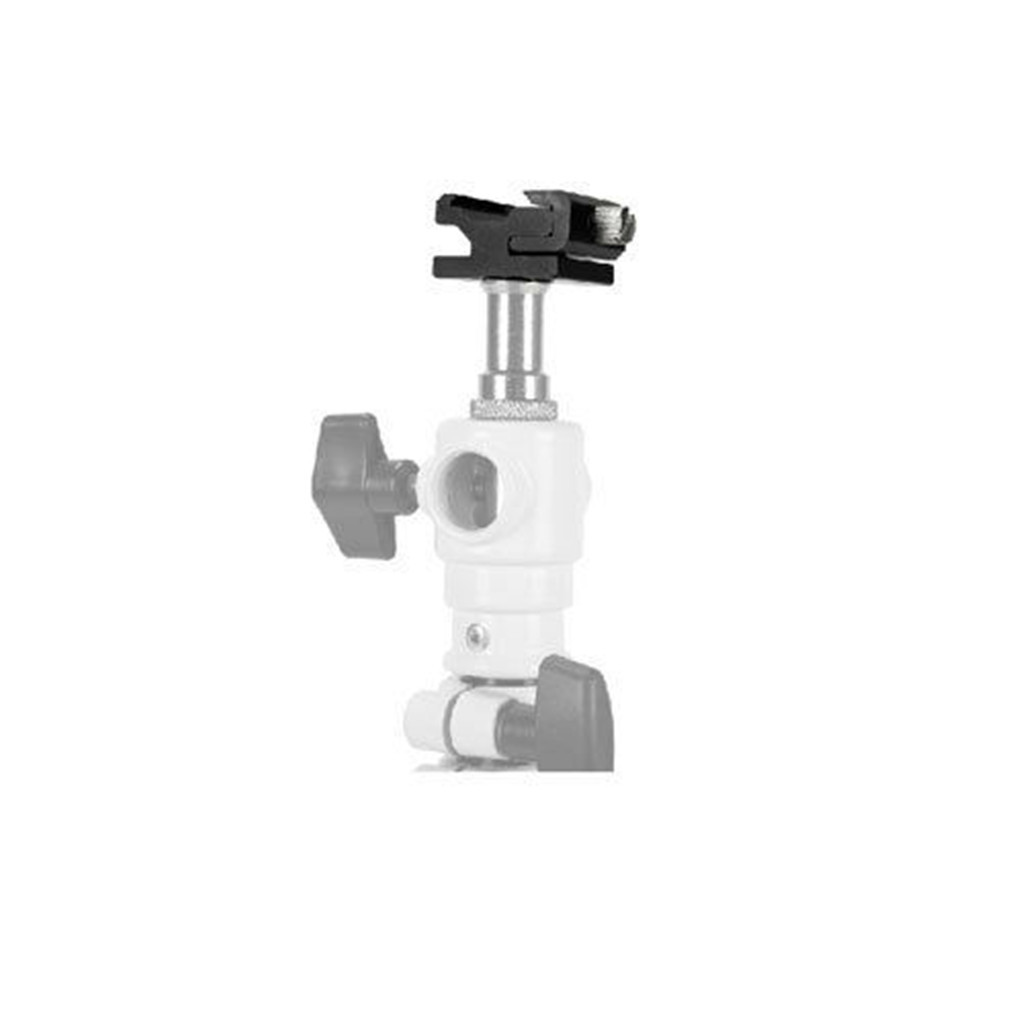 thumbnail 3 - 5 packs of aluminum hot shoe tripod adapters with 1/4 inch 20 tripod screw