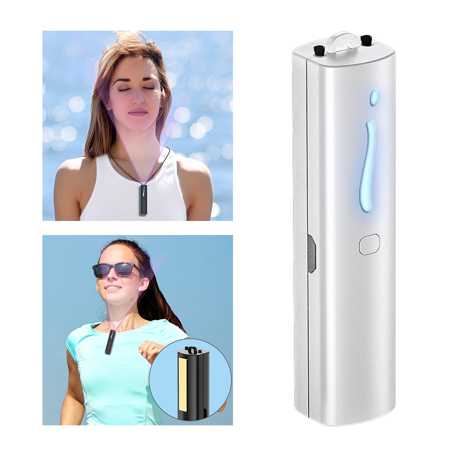 Indexbild 38 - Air Purifier Luft Reiniger Halskette Negative Ionen Generator USB Aufladbare