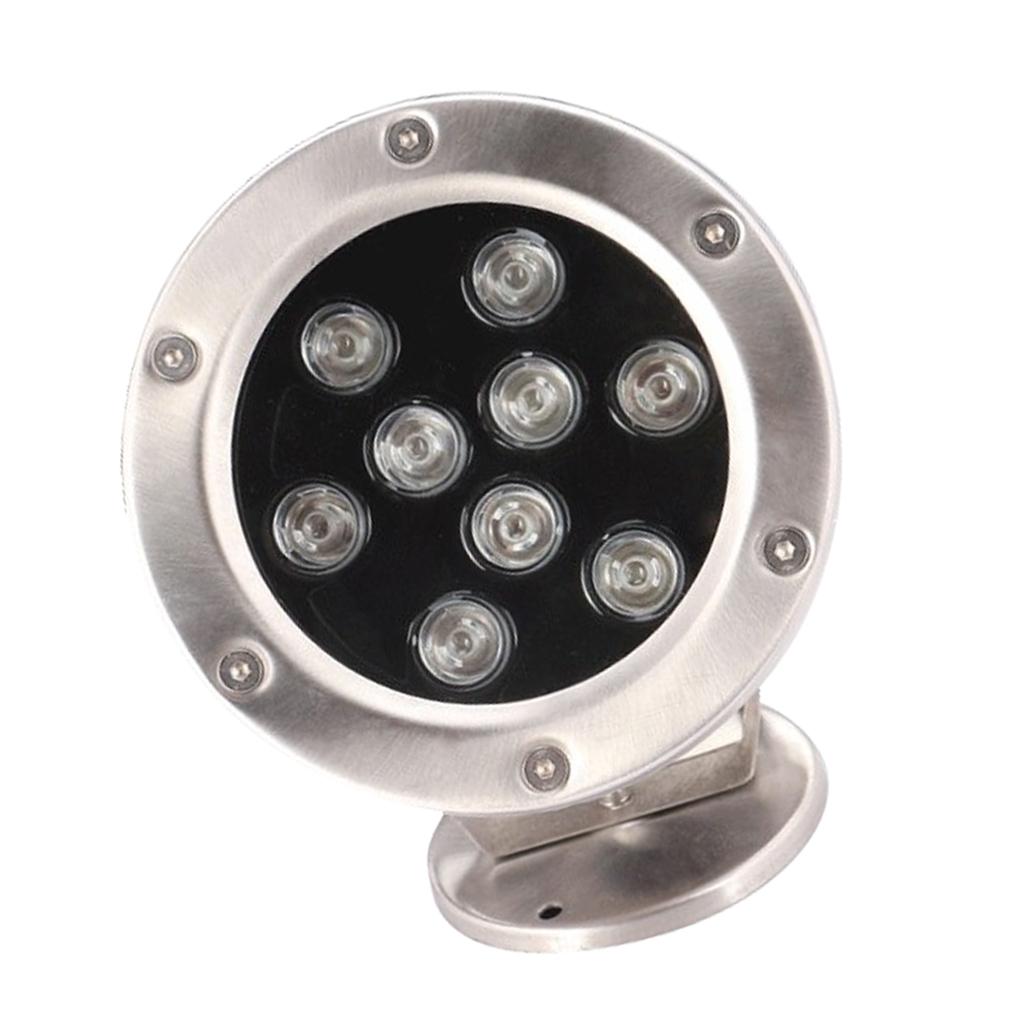 miniatura 6 - Lampada Laghetto Illuminazione Subacquea Luce Indiretta LED 9W Lega Alluminio