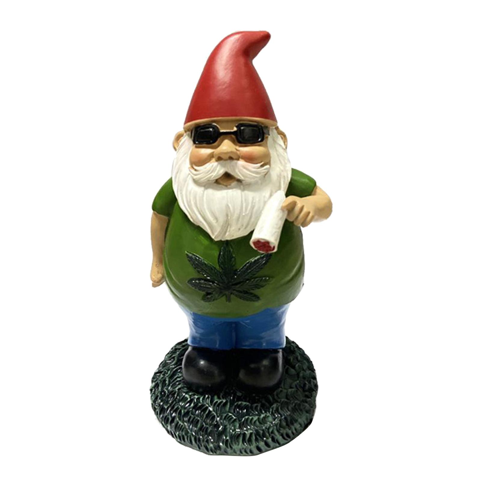 thumbnail 37 - Funny Resin Naughty Garden Gnome Statue Ornaments Outdoor Villa Home Figurines