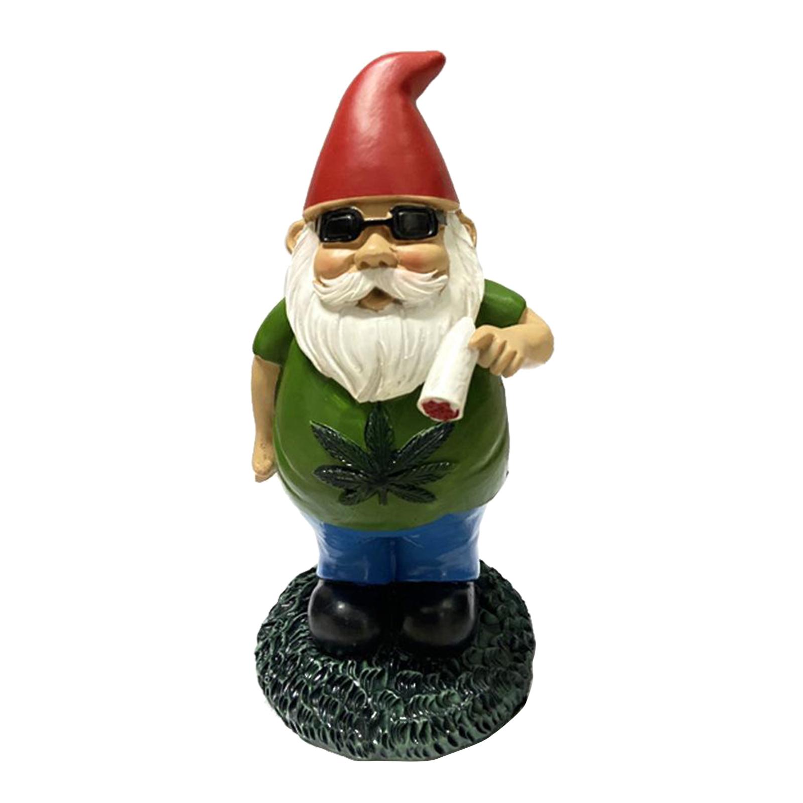 thumbnail 37 - Funny Resin Naughty Garden Gnome Statue Ornaments Villa Home Figurines Decor