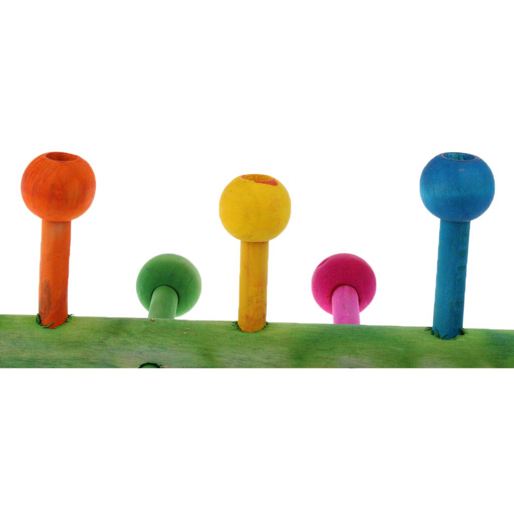 miniatura 36 - Pappagallo in legno per uccelli Giocattolo da masticare Giocattolo da masticare