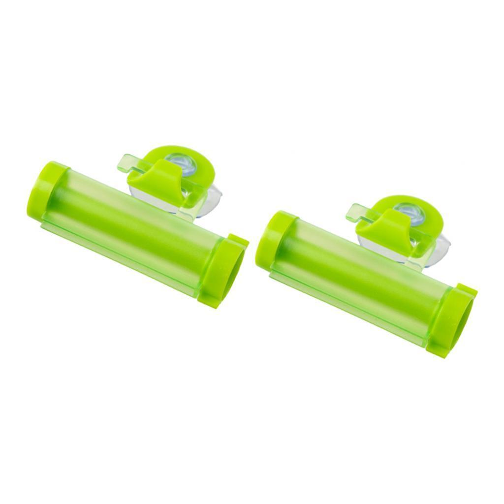 2pcs Wall-Hanging Toothpaste Squeezer Extruder Dispenser Holder for Bathroom