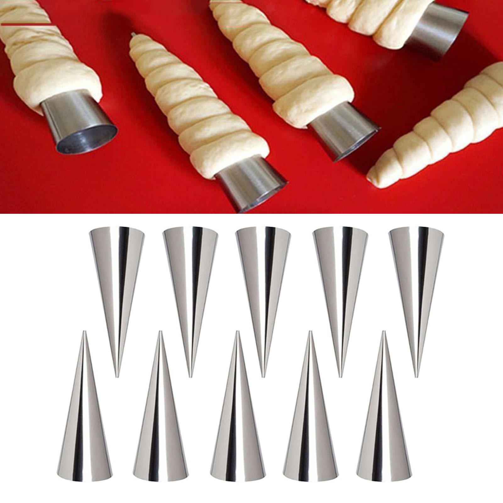 miniature 15 - Crème pâtissière Trompette Croissant Outil Spirale Tubes Pain Pâtisserie Gâ