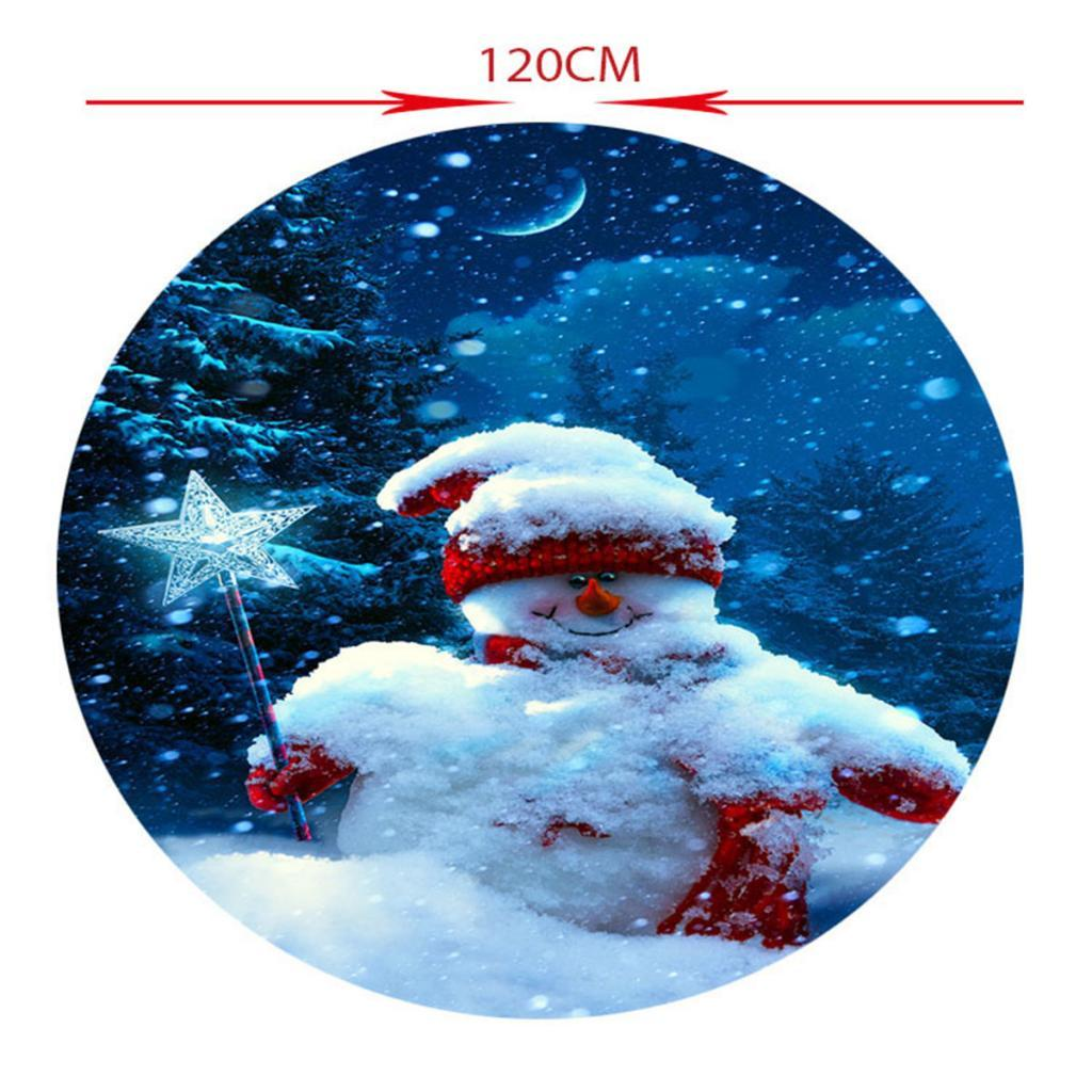 Round-Table-Cloth-Elastic-Edged-Fitted-Vinyl-Table-Cover-Christmas-Decor thumbnail 7