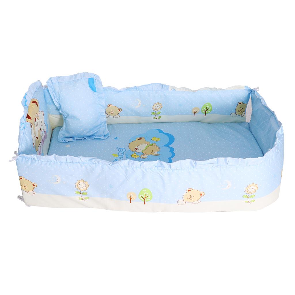 Krippe Bettwäsche Set Bettdecke Surround Matratze 100x58cm drei Bären