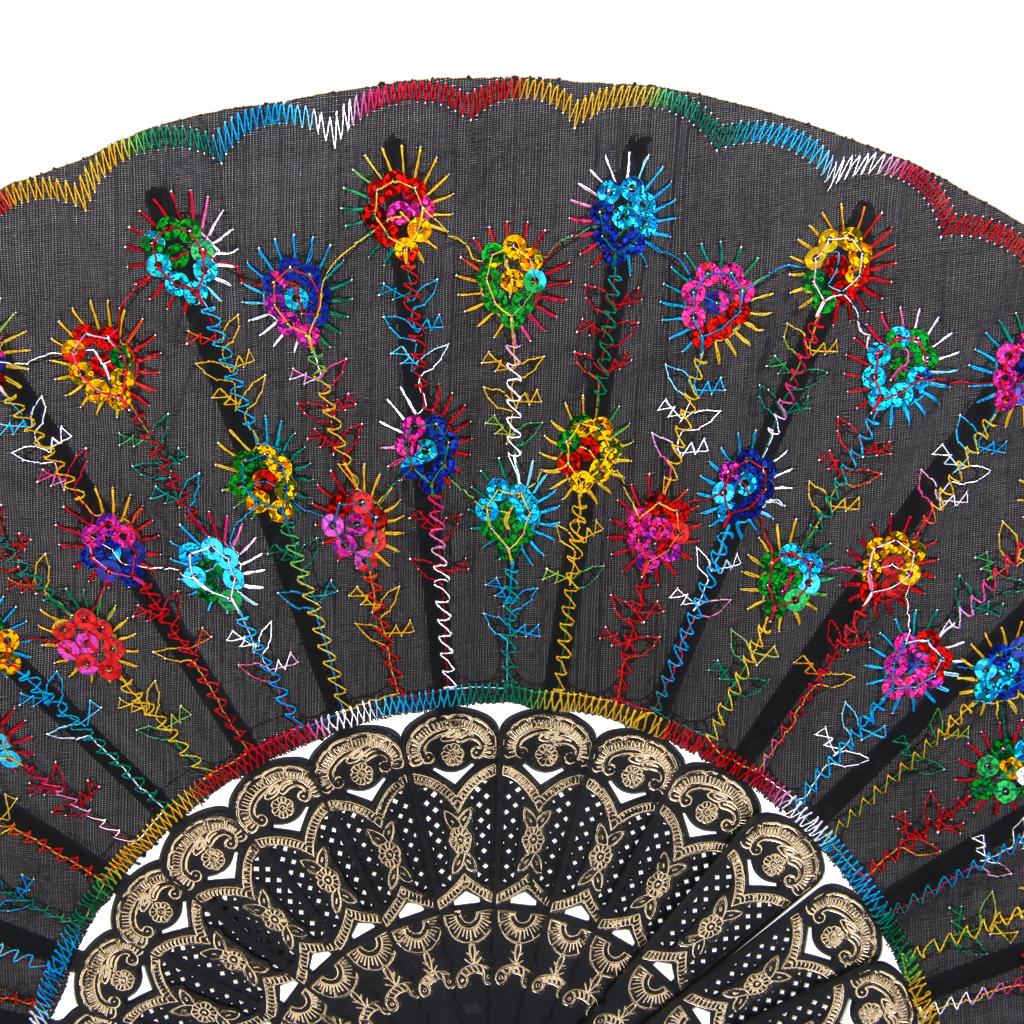 Portable-Summer-Party-Sequin-Silk-Folding-Hand-Handheld-Fan-Wedding-Decor-Gift thumbnail 10