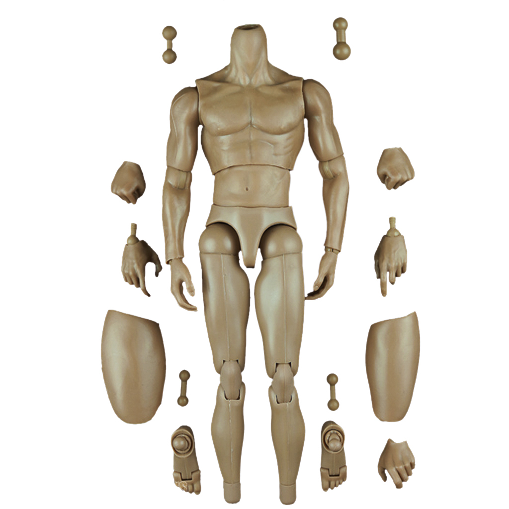 Seamless Action Figure 1/6 Scale Male Body (Pale)