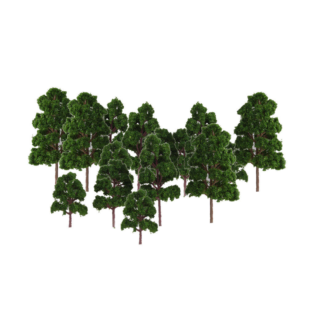 20x Assorted Green Mini Model Trees Train Architecture SCENERY Layout HO N Z