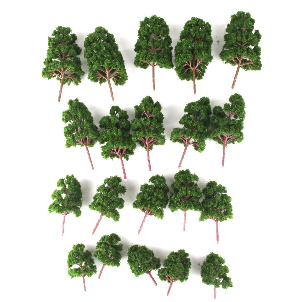 thumbnail 3 - 20x Assorted Green Mini Model Trees Train Architecture SCENERY Layout HO N Z