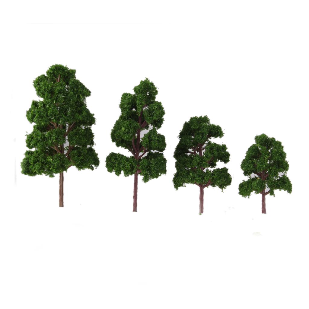 thumbnail 11 - 20x Assorted Green Mini Model Trees Train Architecture SCENERY Layout HO N Z