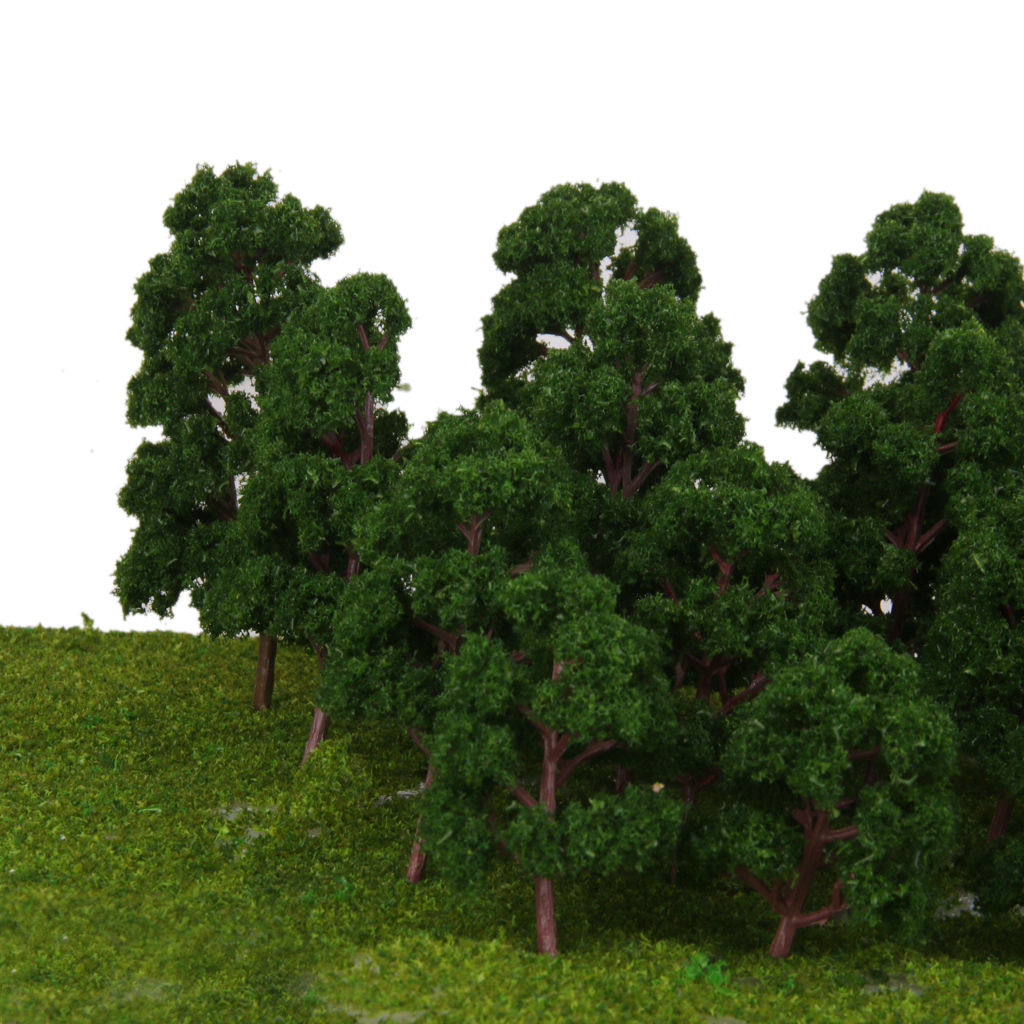 thumbnail 4 - 20x Assorted Green Mini Model Trees Train Architecture SCENERY Layout HO N Z