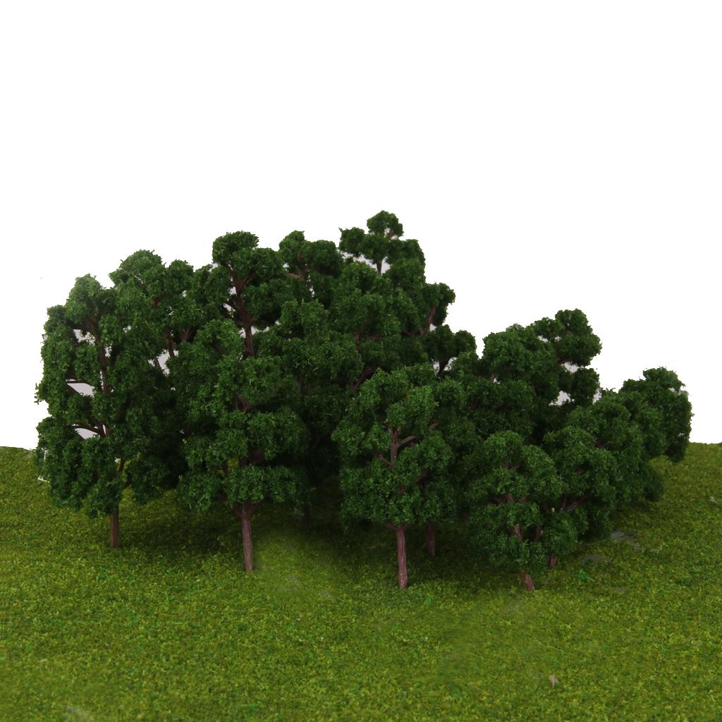 thumbnail 9 - 20x Assorted Green Mini Model Trees Train Architecture SCENERY Layout HO N Z