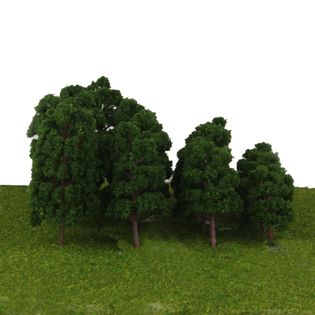 thumbnail 6 - 20x Assorted Green Mini Model Trees Train Architecture SCENERY Layout HO N Z