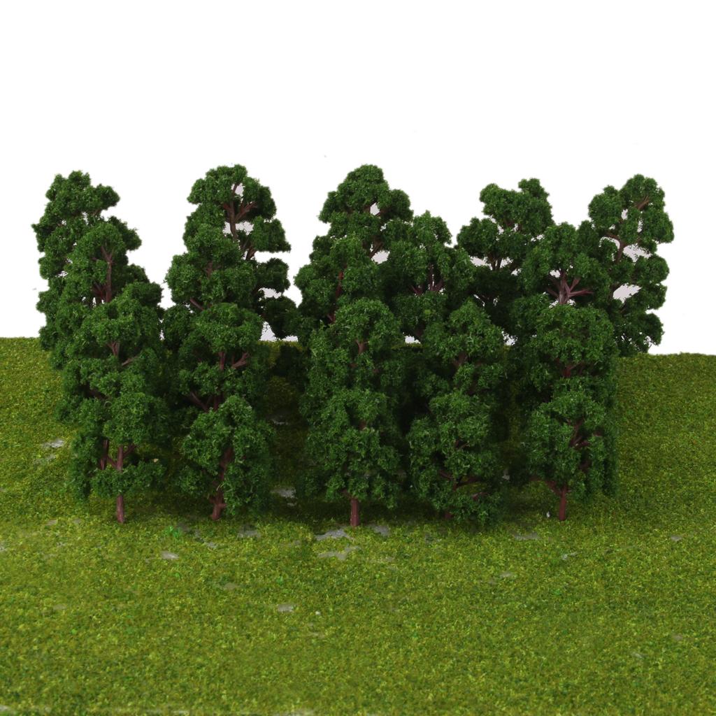 thumbnail 5 - 20x Assorted Green Mini Model Trees Train Architecture SCENERY Layout HO N Z