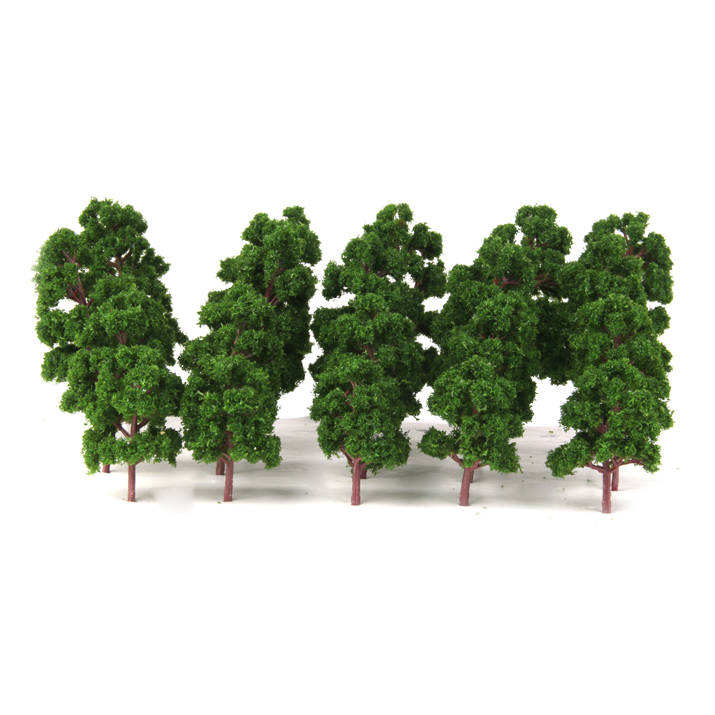 thumbnail 8 - 20x Assorted Green Mini Model Trees Train Architecture SCENERY Layout HO N Z