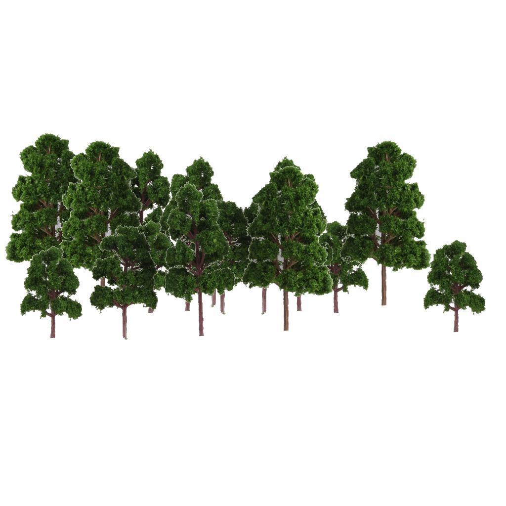 thumbnail 2 - 20x Assorted Green Mini Model Trees Train Architecture SCENERY Layout HO N Z