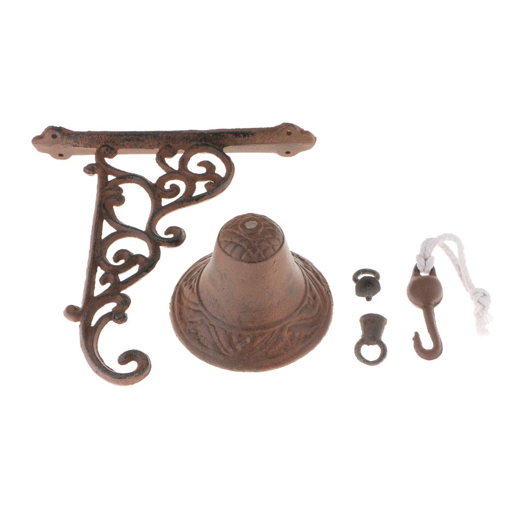 miniatura 3 - Campanello per porta appeso in stile antico in ghisa da parete Decoro da