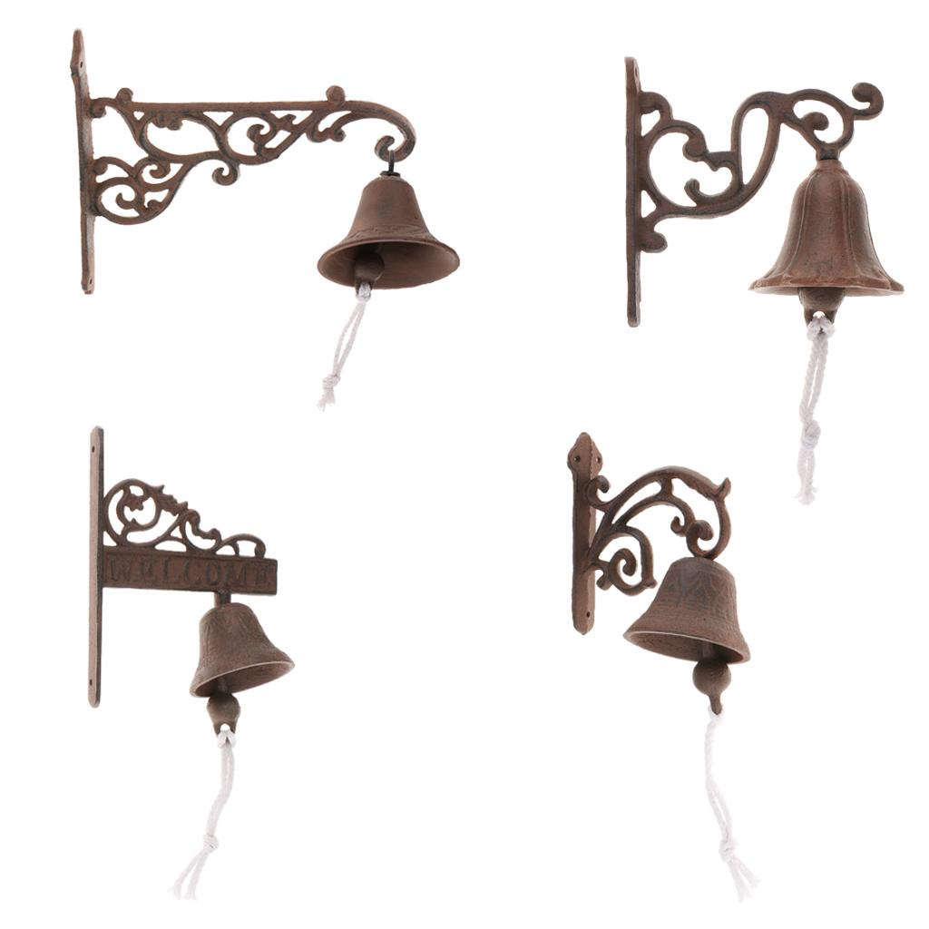 miniatura 4 - Campanello per porta appeso in stile antico in ghisa da parete Decoro da