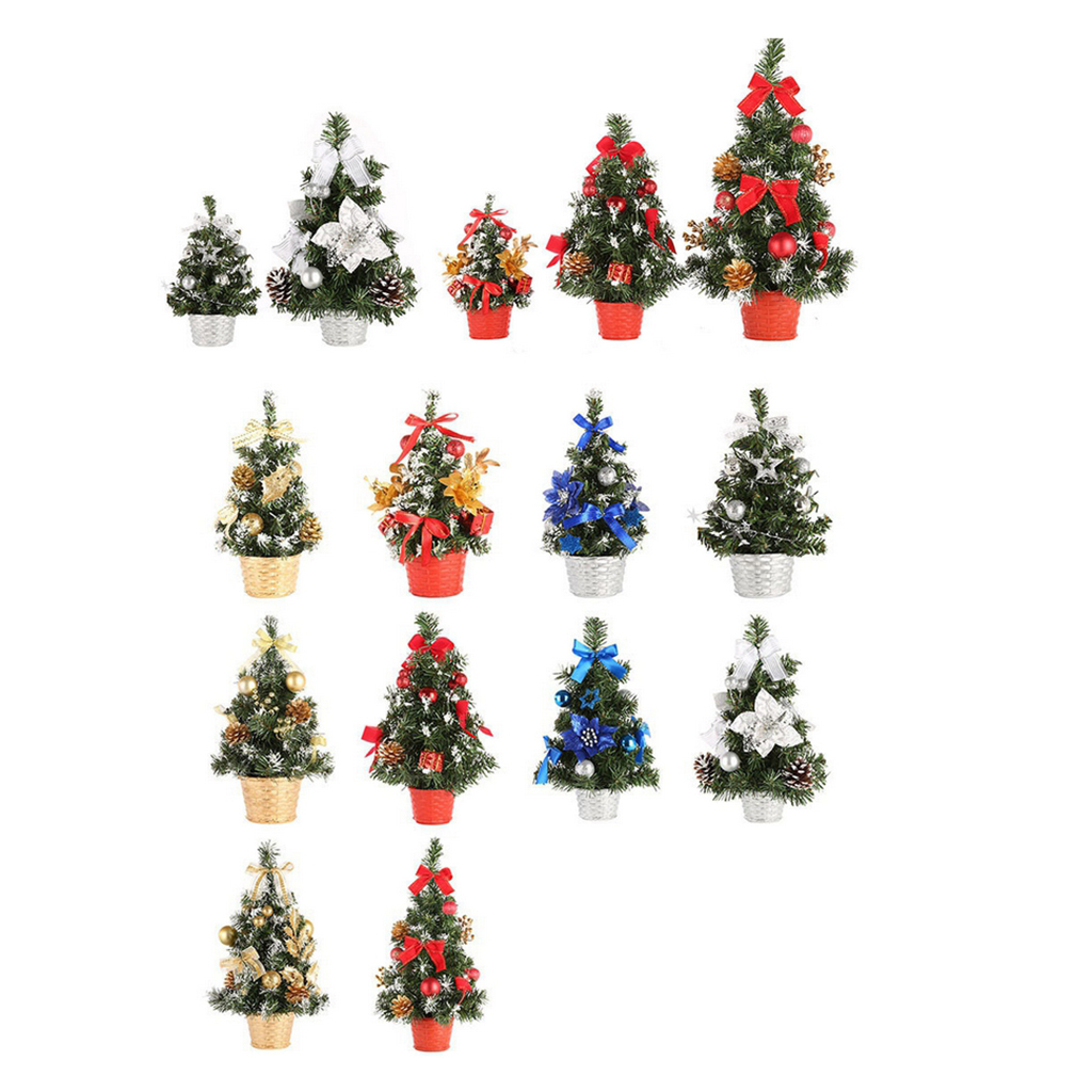 Tabletop Mini Artificial Christmas Tree Holiday Party ...