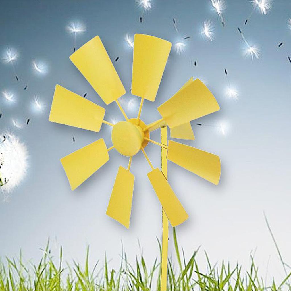 Heavy Duty Windmill Pinwheels Wind Spinner Toys Lawn Field Yard Decoration