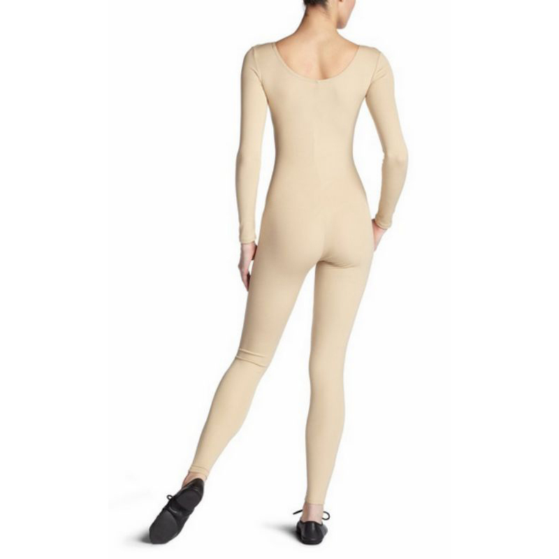 Scoop-Neck-Full-Body-Dance-Unitard-Bodysuit-Costume-Long-Sleeve-Unitard-Womens thumbnail 20