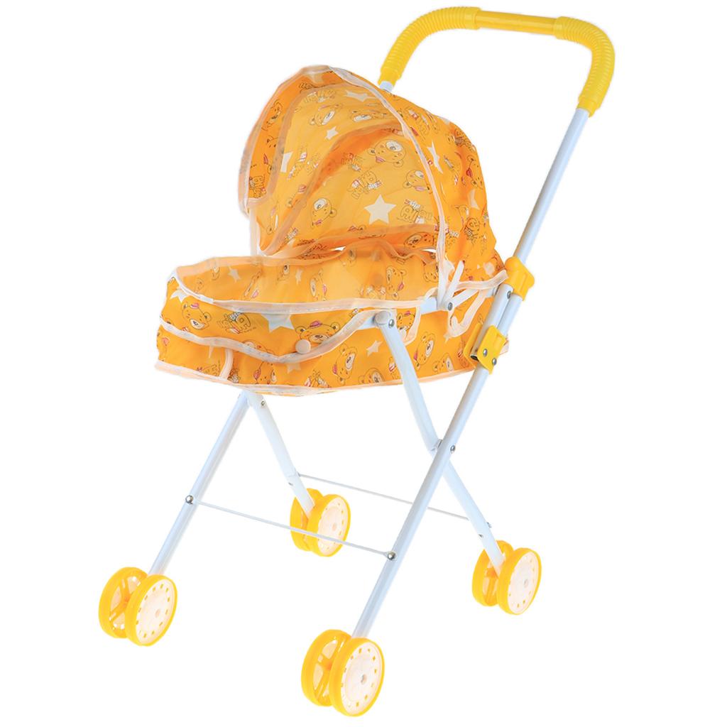 Foldable-Simulation-Pushchair-Stroller-Buggy-Pram-Pretend-Parent-Kids-Role-Play miniature 20