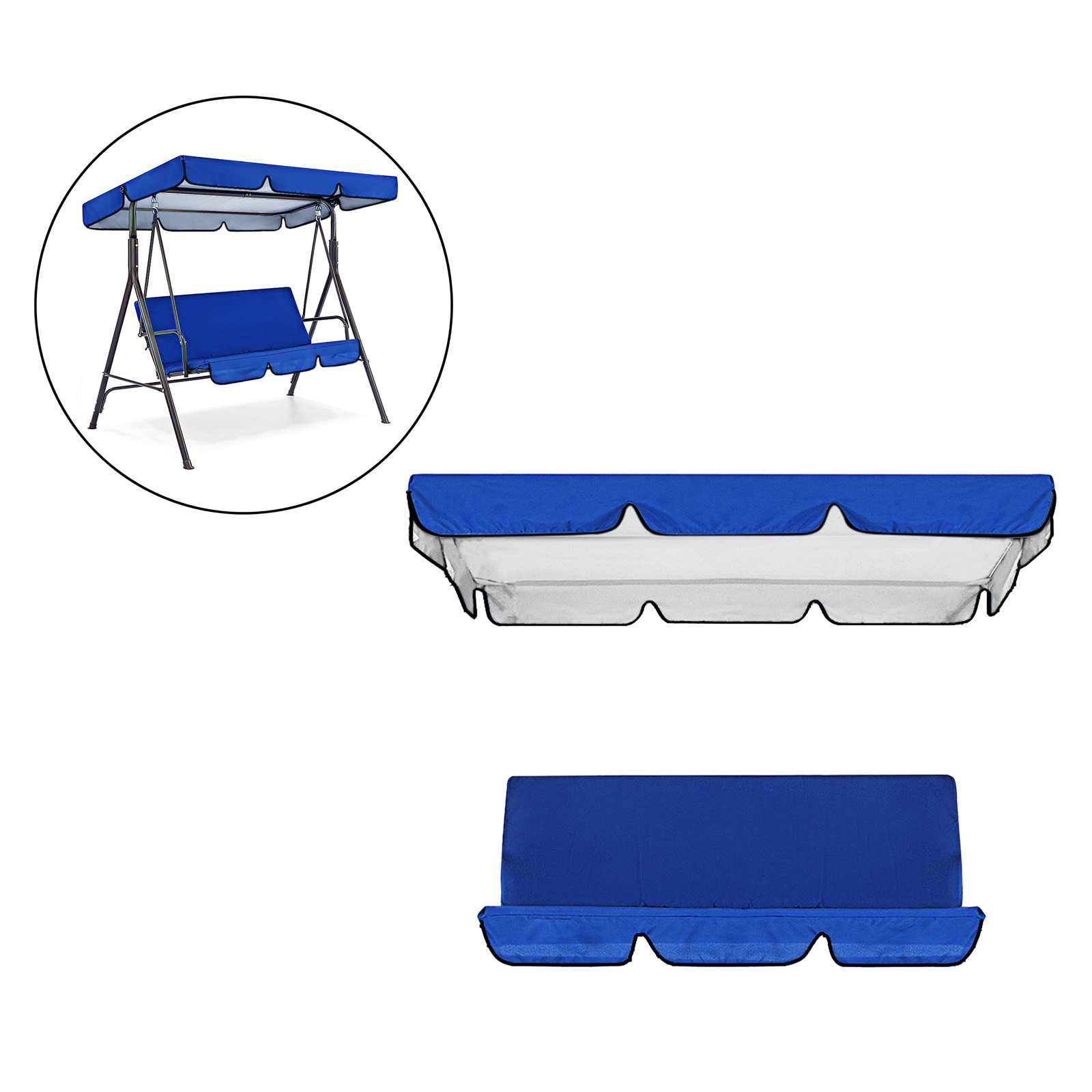 miniatura 23 - Sostituzione della copertura della sedia a dondolo da esterno per patio,