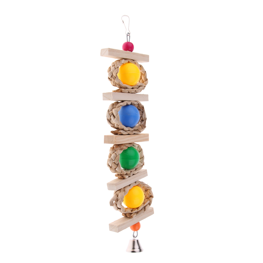 miniatura 54 - Pappagallo in legno per uccelli Giocattolo da masticare Giocattolo da masticare