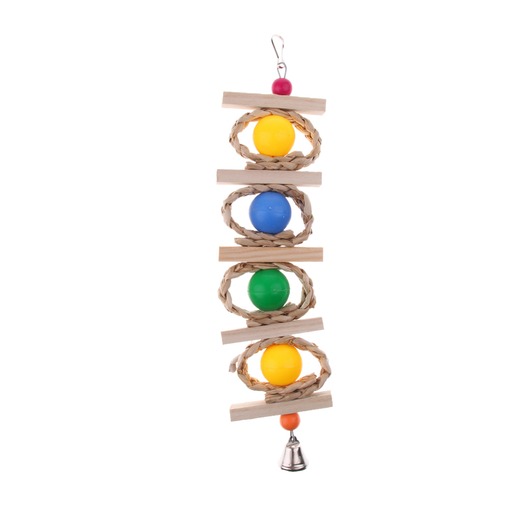 miniatura 55 - Pappagallo in legno per uccelli Giocattolo da masticare Giocattolo da masticare