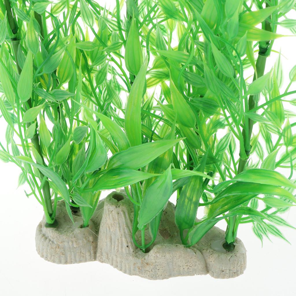 Vivarium-Paysage-Decor-Reptile-Crawler-Boite-Ornement-Artificiel-Bambou-Feuilles miniature 7