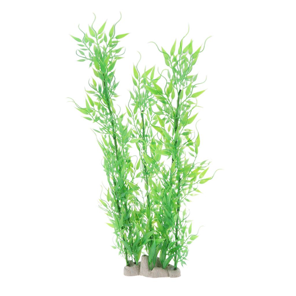 Vivarium-Paysage-Decor-Reptile-Crawler-Boite-Ornement-Artificiel-Bambou-Feuilles miniature 3