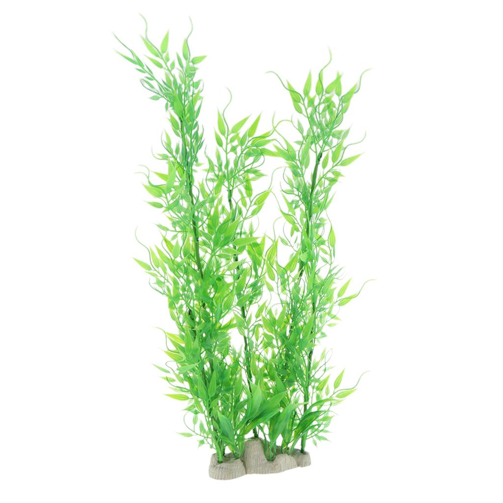 Vivarium-Paysage-Decor-Reptile-Crawler-Boite-Ornement-Artificiel-Bambou-Feuilles miniature 4