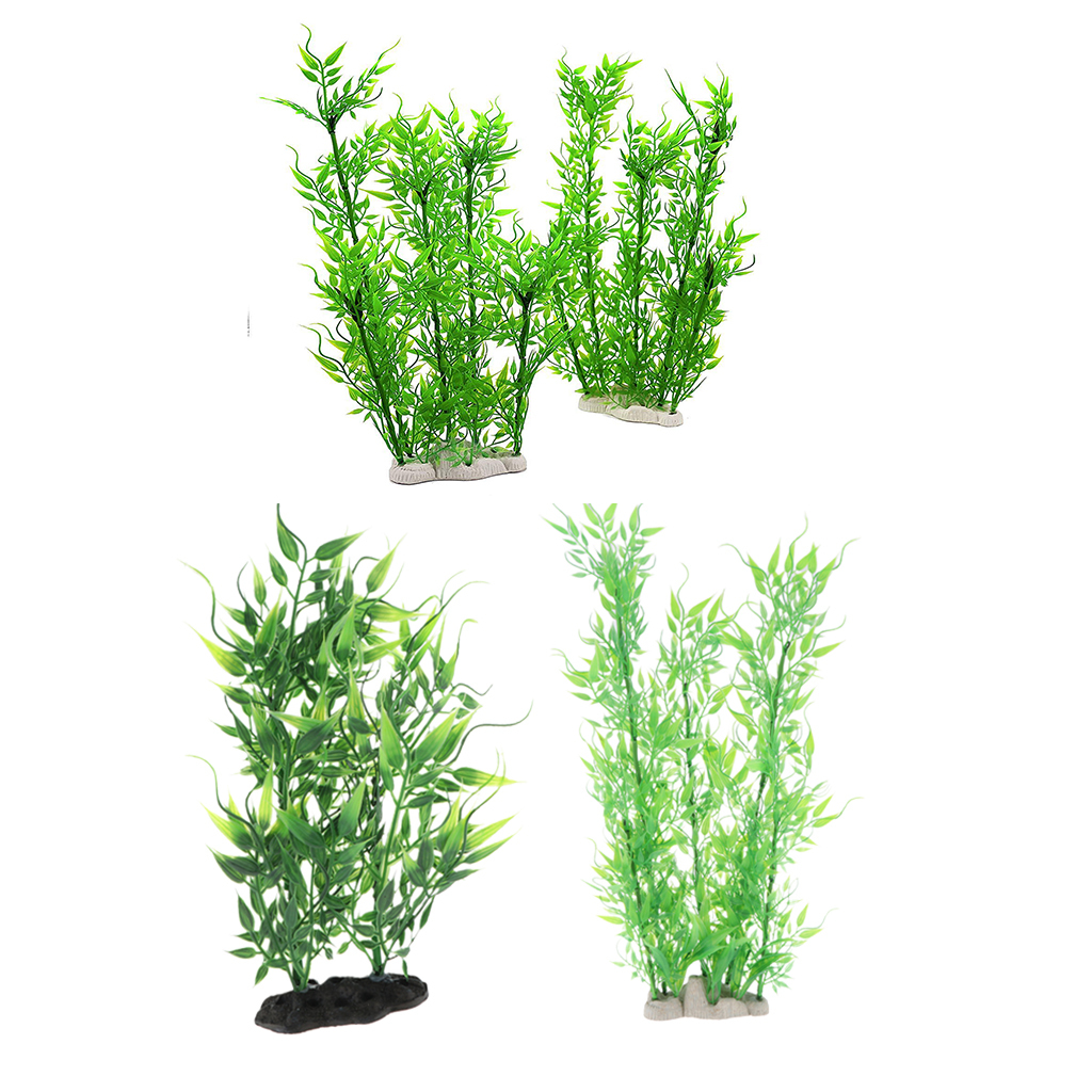 Vivarium-Paysage-Decor-Reptile-Crawler-Boite-Ornement-Artificiel-Bambou-Feuilles miniature 5