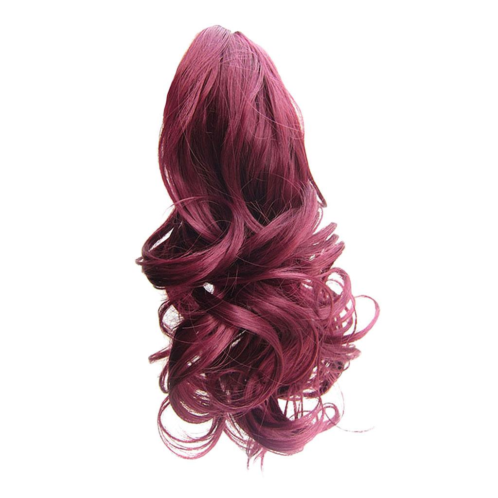 Queue-de-Cheval-Extension-Extension-avec-Pince-Rajout-Cheveux-Diverses miniature 32