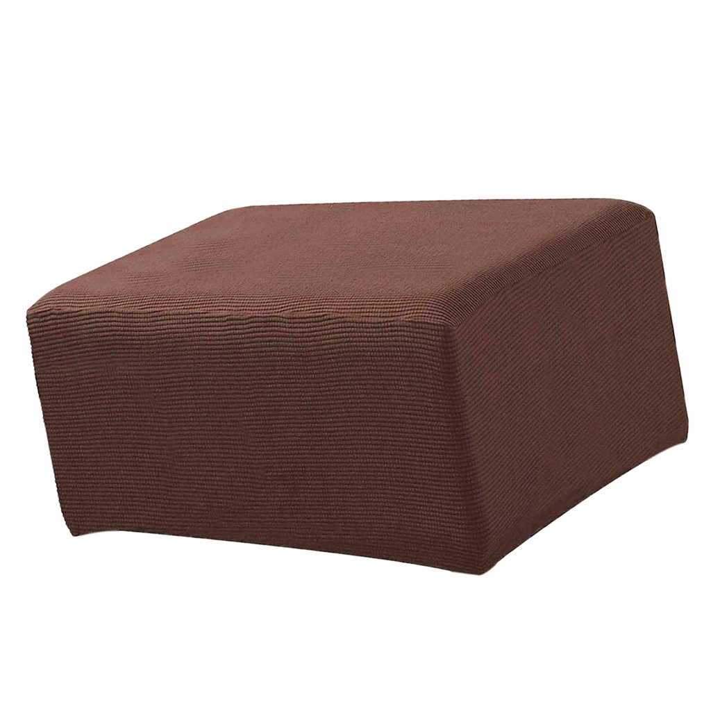 Stretch Ottoman Cover Spandex Soft Rectangle Footrest