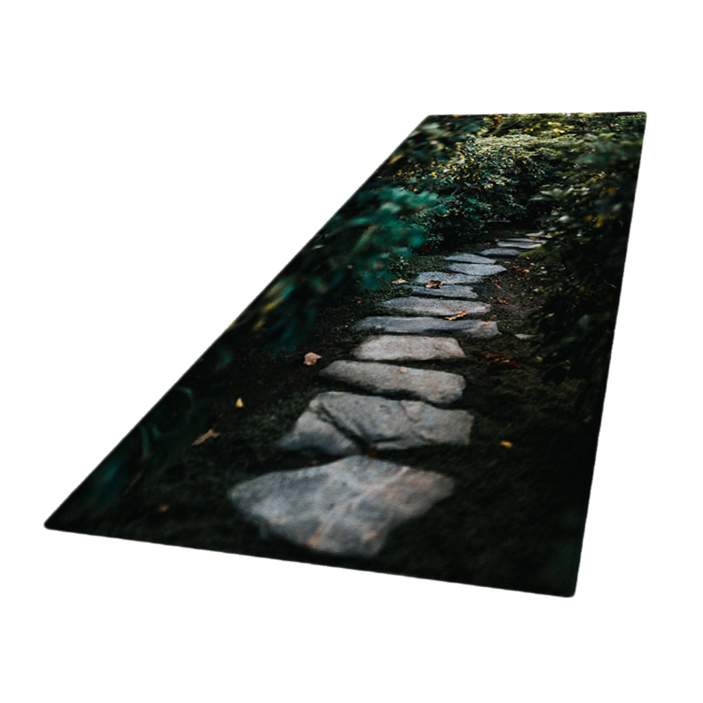 Tappeto-Antiscivolo-Per-Zona-Camera-Da-Letto-Corridore-Tappetino-Decorativo-3D miniatura 6