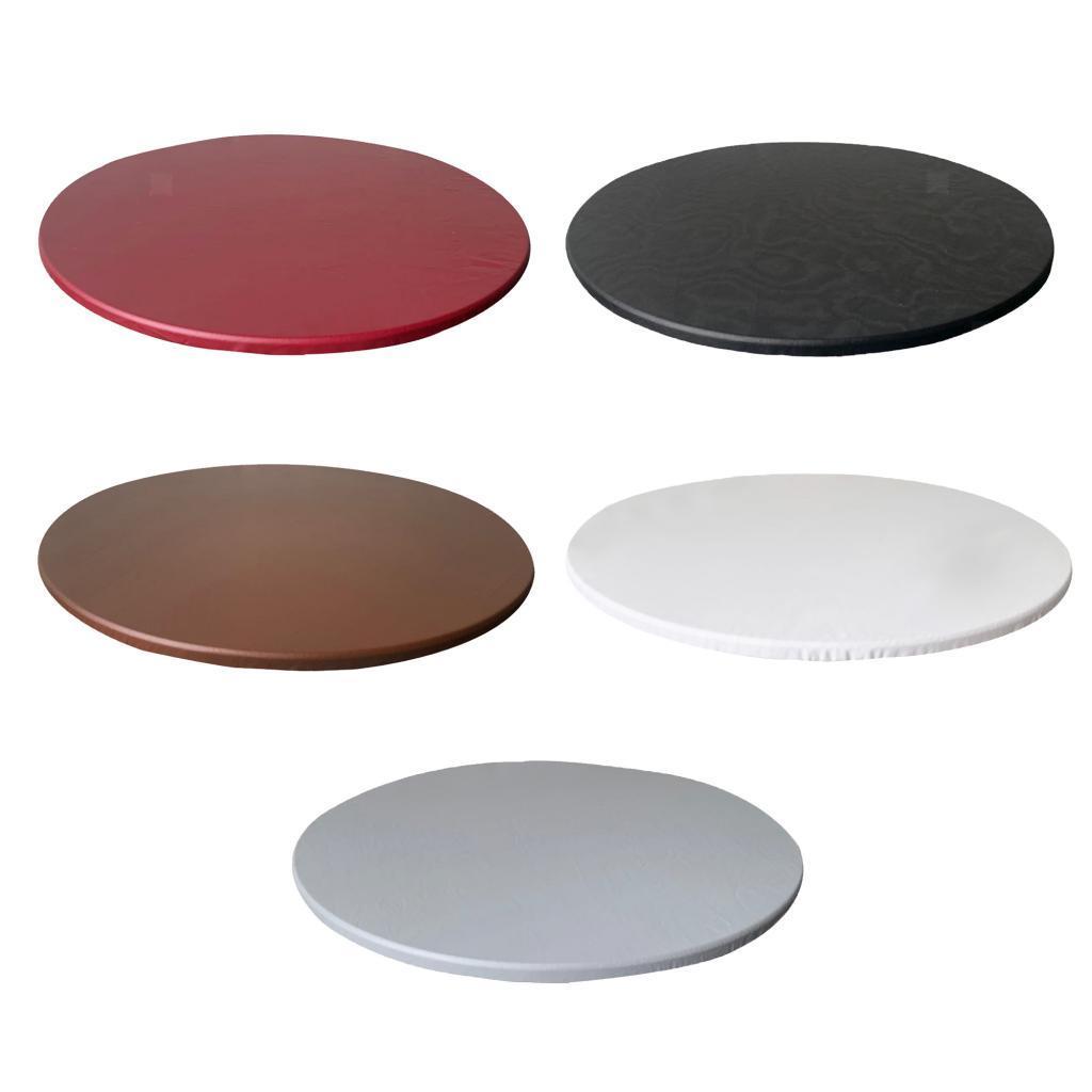 Tisch Tuch Runde Elastische Eingefasst Ausgestattet Tischdecke Bis zu 36 zoll