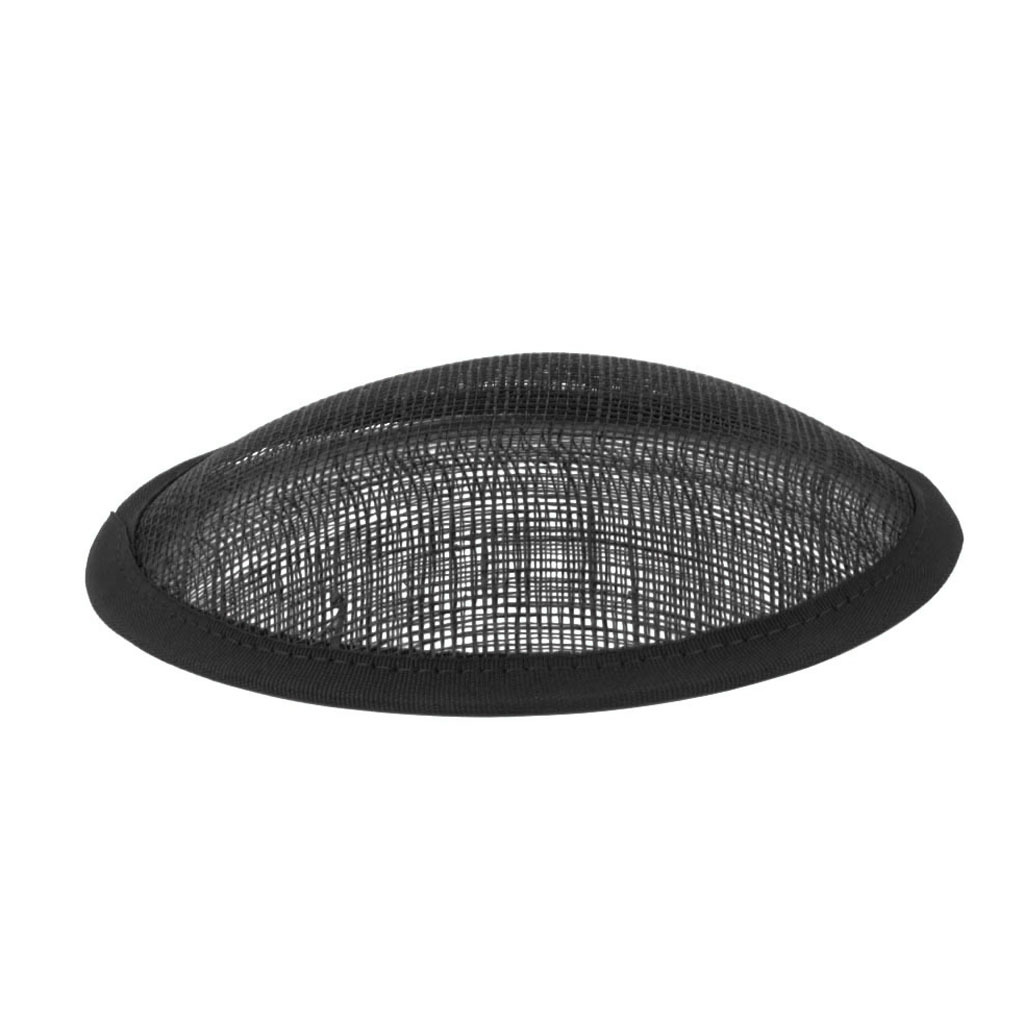 Black Round Sinamay Base 13cm for Hat Fascinators Headpieces Millinery DIY