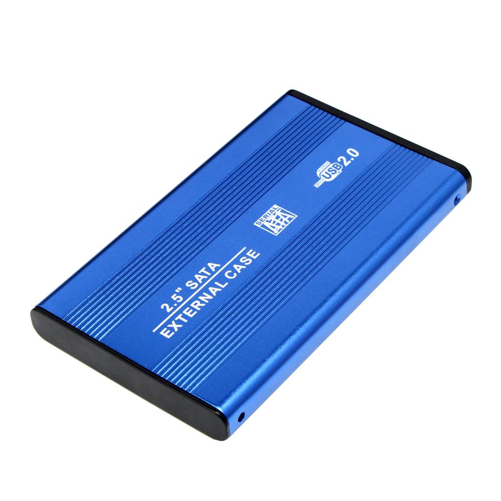 Custodia-esterna-in-alluminio-per-disco-rigido-SATA-USB-2-0-da-2-5-034-con-disco miniatura 7