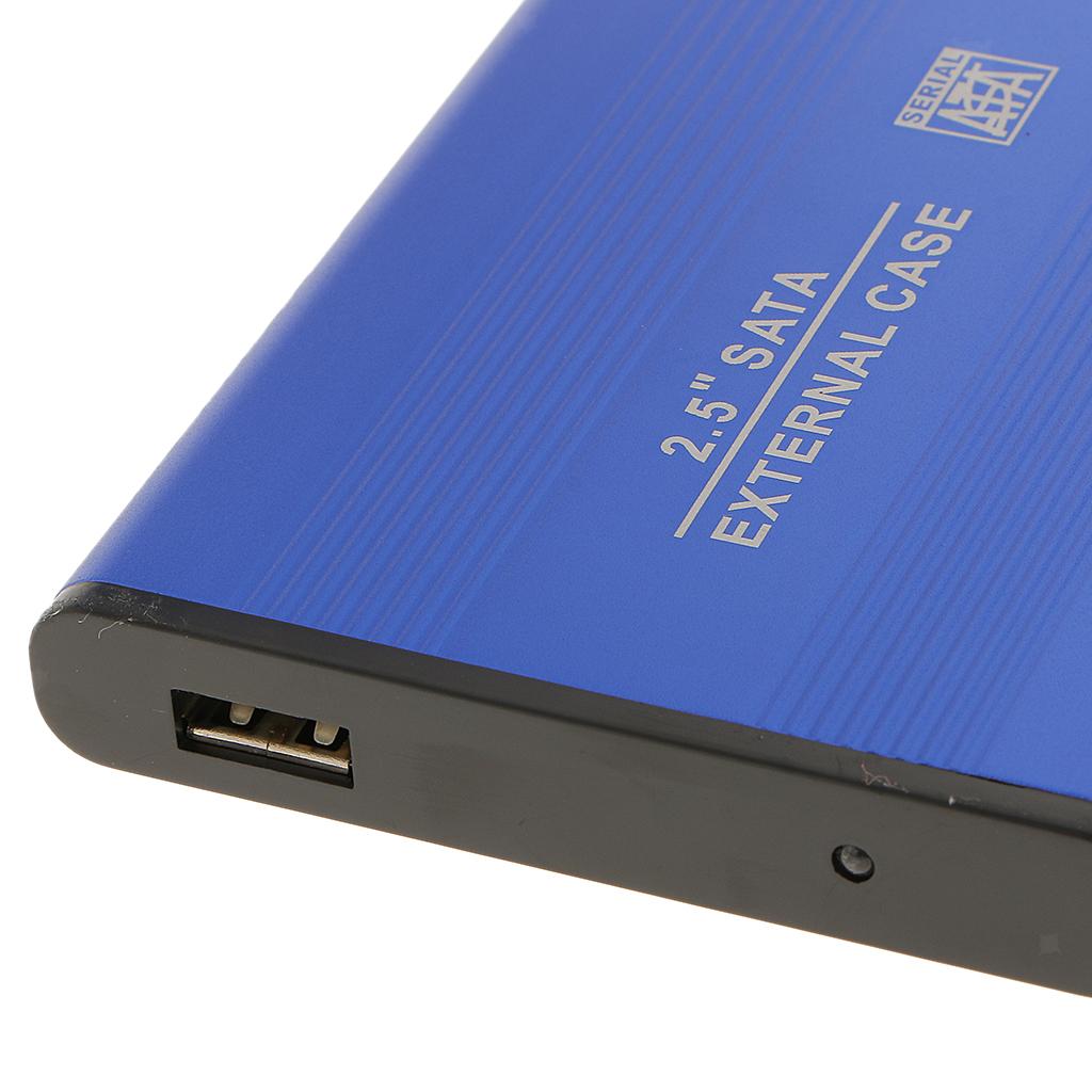 Custodia-esterna-in-alluminio-per-disco-rigido-SATA-USB-2-0-da-2-5-034-con-disco miniatura 6