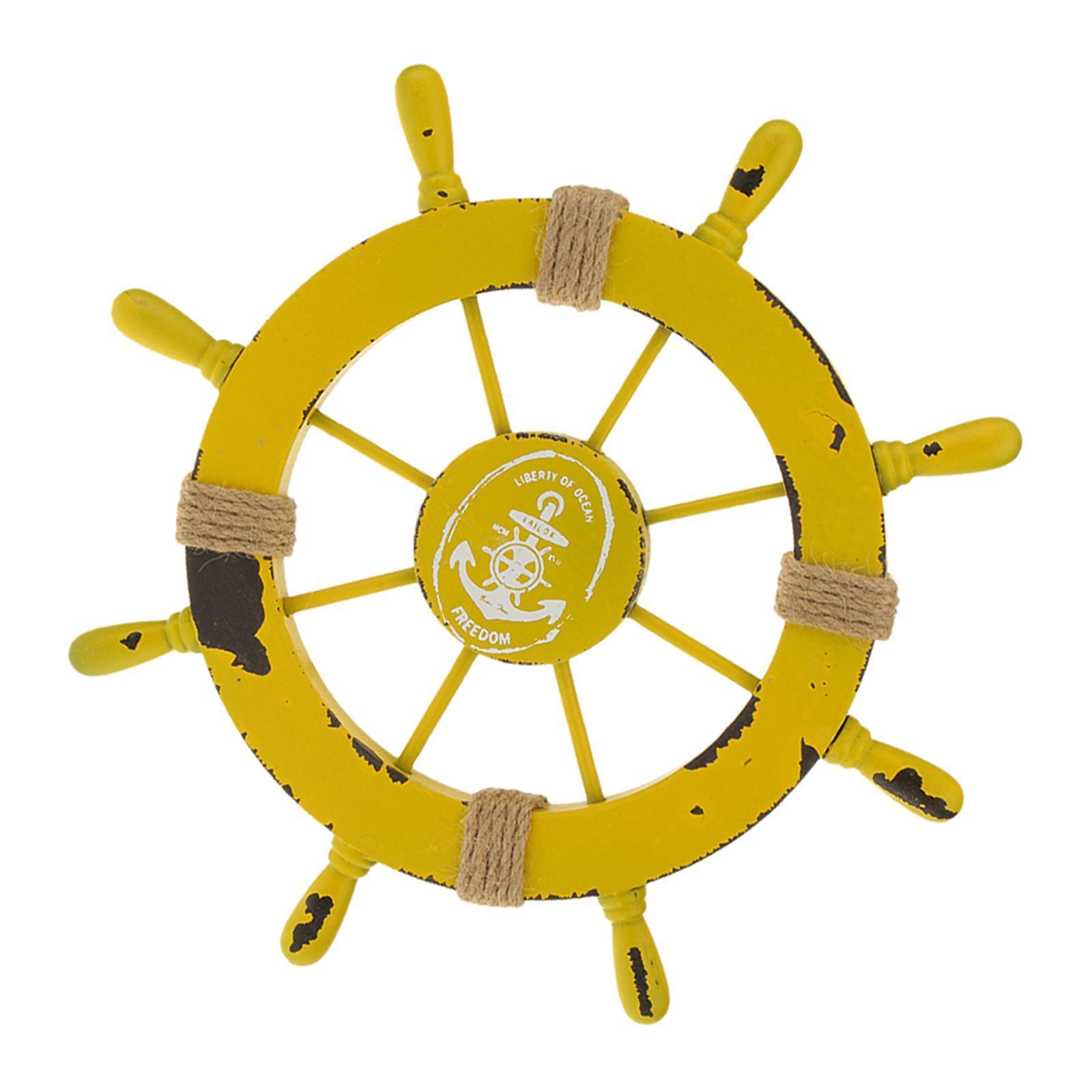 Nautical-Beach-Wooden-Boat-Ship-Wheel-Home-Bar-Wall-Party-Hanging-Decoration thumbnail 11