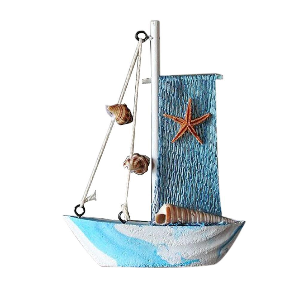 Wooden-Sailing-Boat-Ship-Ornament-f-Office-Cafe-Pub-Tabletop-Decoration thumbnail 21