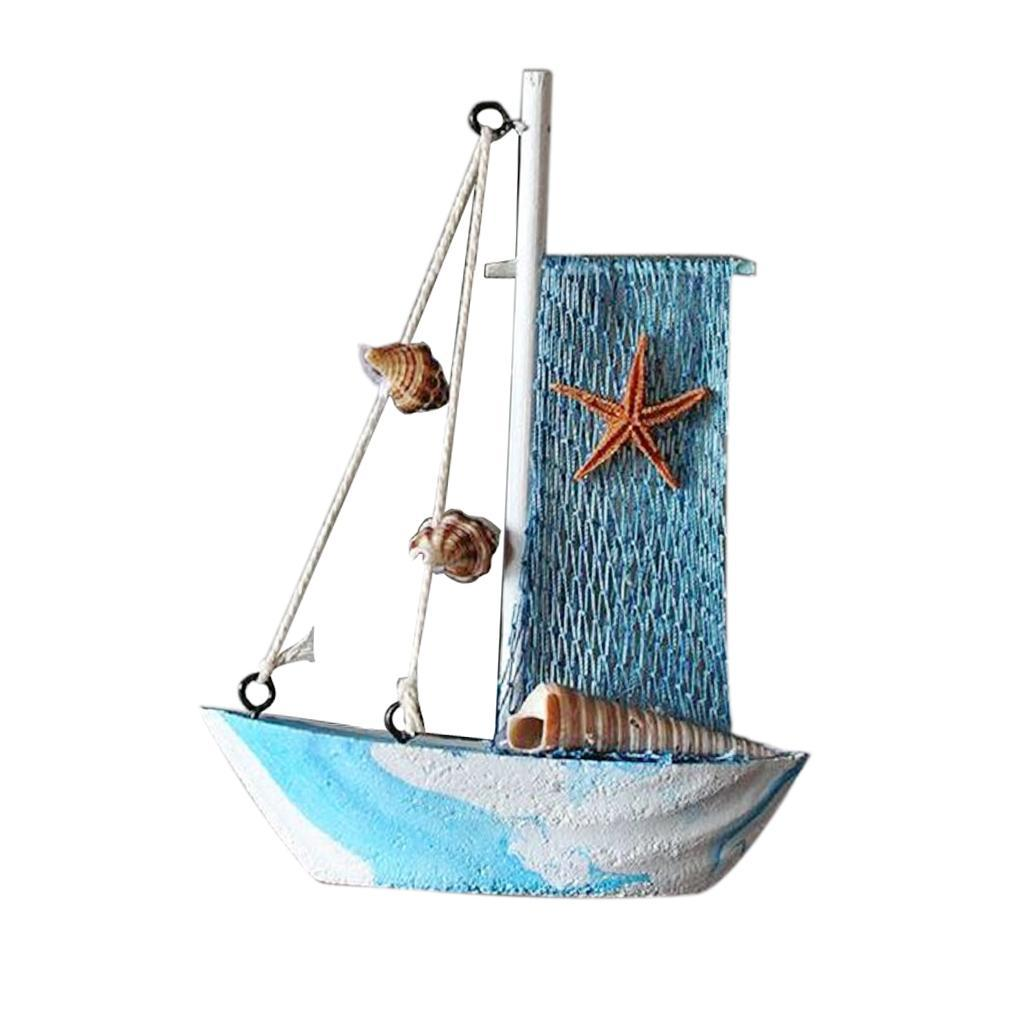 Wooden-Sailing-Boat-Ship-Ornament-f-Office-Cafe-Pub-Tabletop-Decoration thumbnail 22