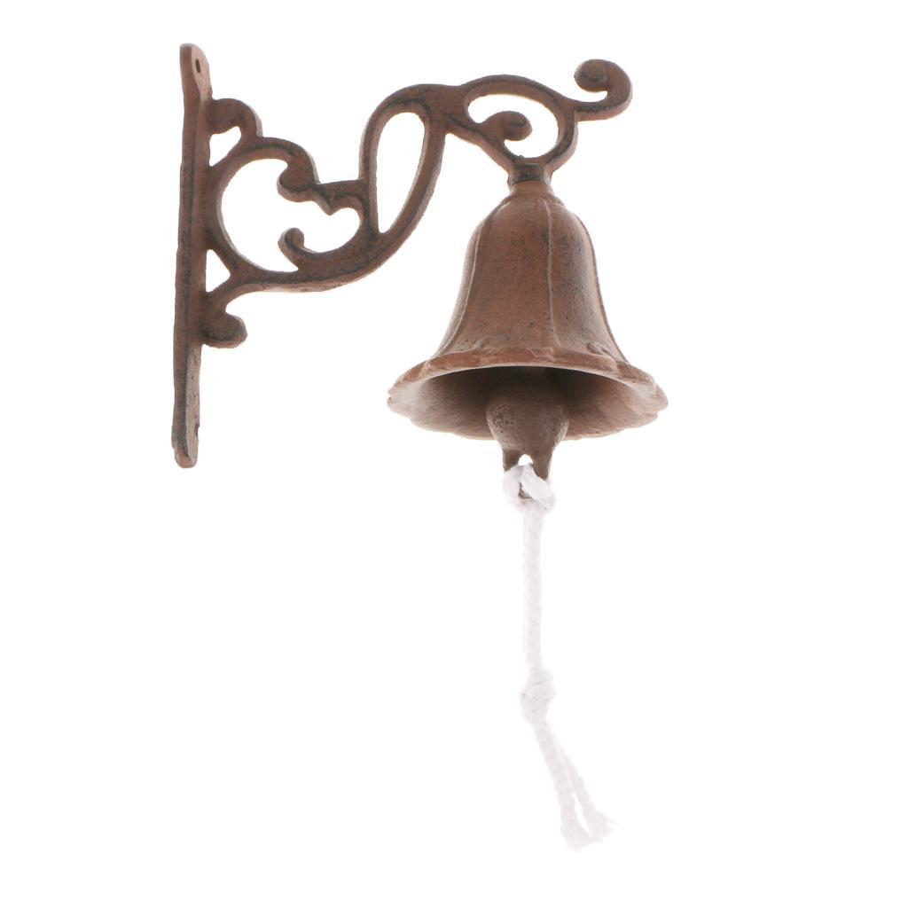 miniatura 6 - Campanello per porta appeso in stile antico in ghisa da parete Decoro da